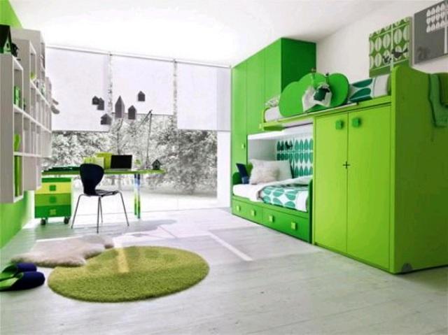 zelenyj-cvet-v-interere-detskoj