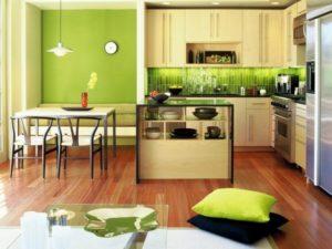zelenyj-cvet-v-interere-kuxni
