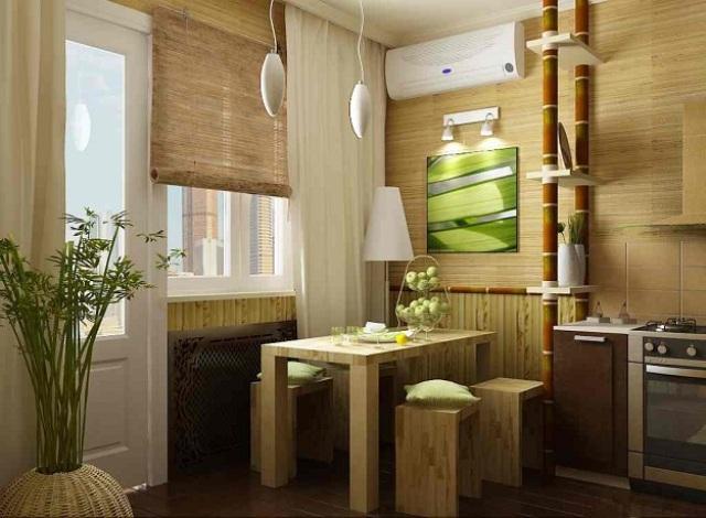 бамбук в интерьере 2