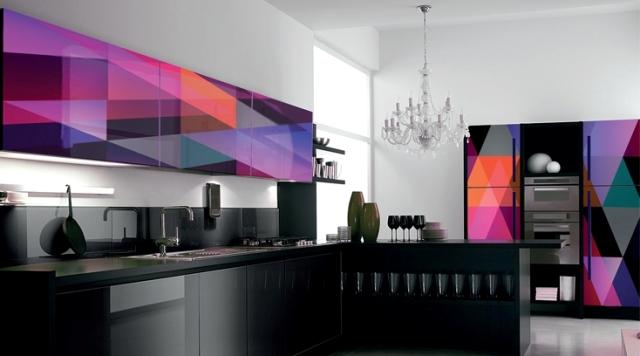 глянцевые кухонные фасады 2
