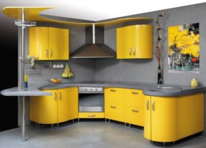 глянцевые кухонные фасады 3
