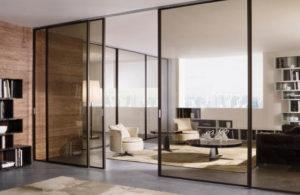 стеклянные двери в интерьере 1