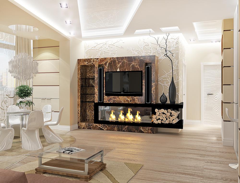 Дизайн интерьера гостиной комнаты2