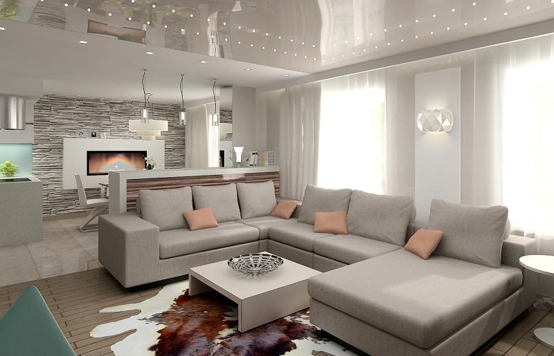 Дизайн интерьера гостиной комнаты4