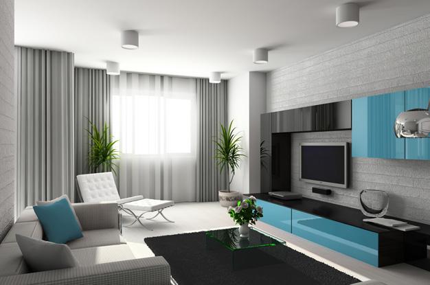 Дизайн интерьера гостиной комнаты5