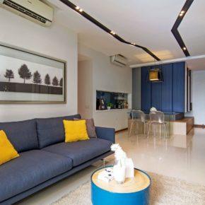 ассиметричный дизайн квартиры