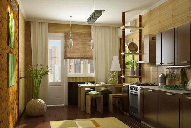 бамбуковые обои в интерьере1