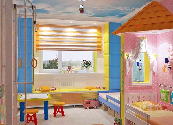 детская комната для двеоих детей