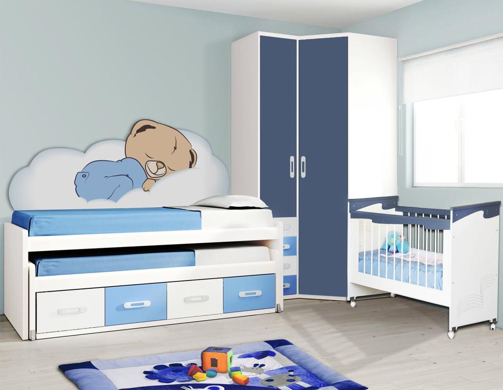 детская в голубом цвете