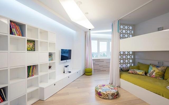 дизайн комнаты в белых тонах_2