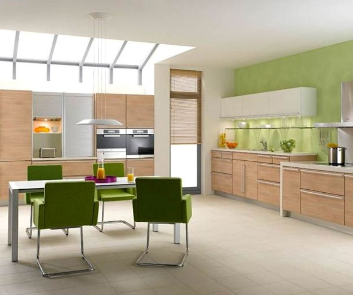 дизайн кухни в зеленом цвете_1