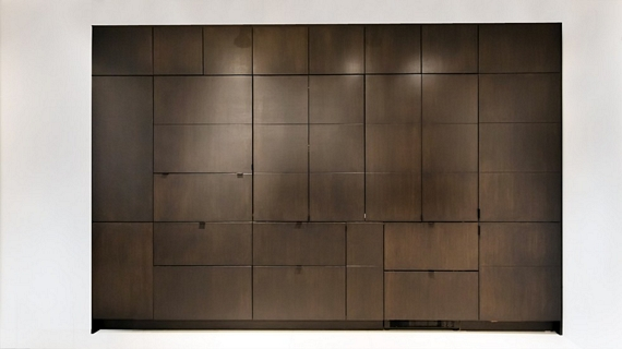 фальш стена в кухне