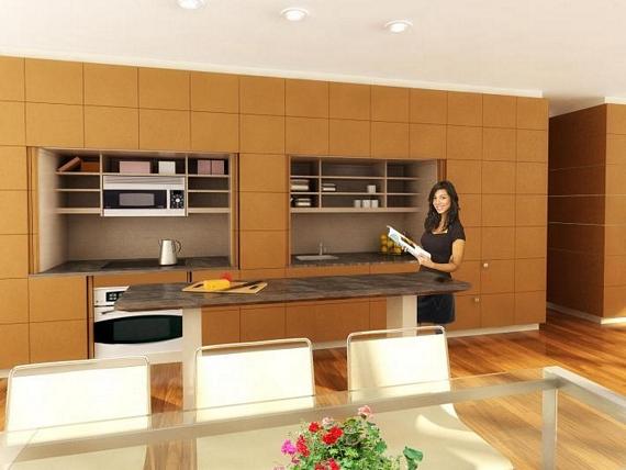 фальш стена в кухне_3