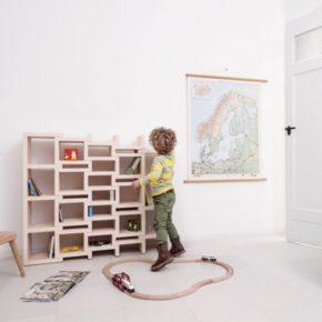 функциональный книжный шкаф