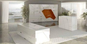 футуристическая мебель в стиле минимализм