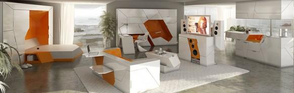 футуристическая мебель в стиле минимализм_1