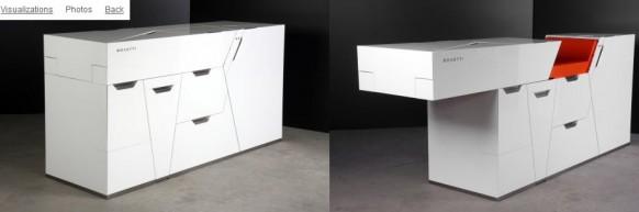 футуристическая мебель в стиле минимализм_7