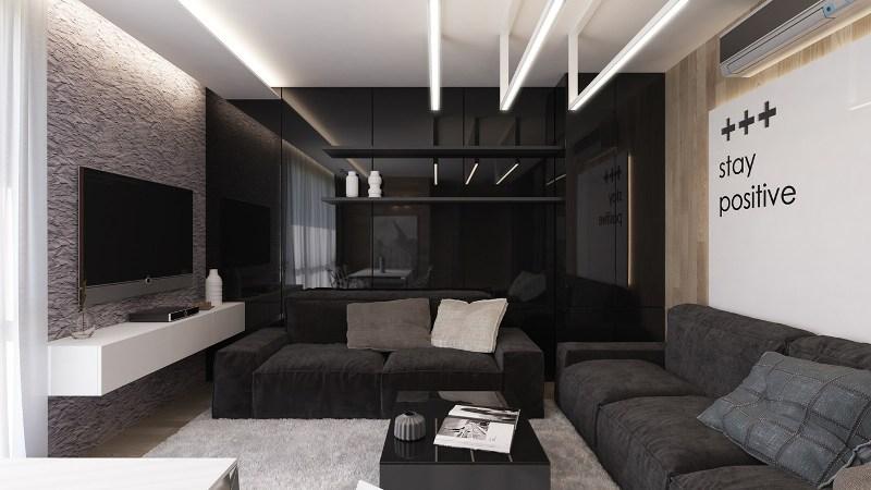 гостиная в черном цвете2