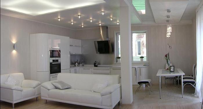 гостиная в стиле хай-тек1