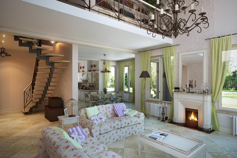 интерьер дома в стиле прованс2