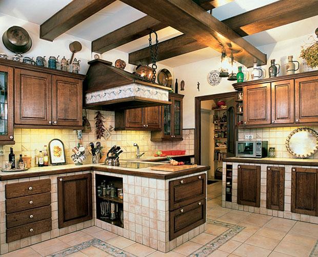 интерьер кухни в стиле кантри1