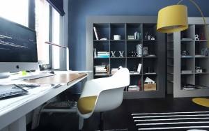 кабинет в голубом цвете