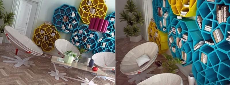 книжные полки в марокканском стиле3