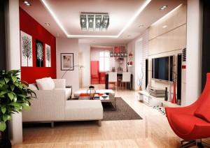 красный цвет в дизайне