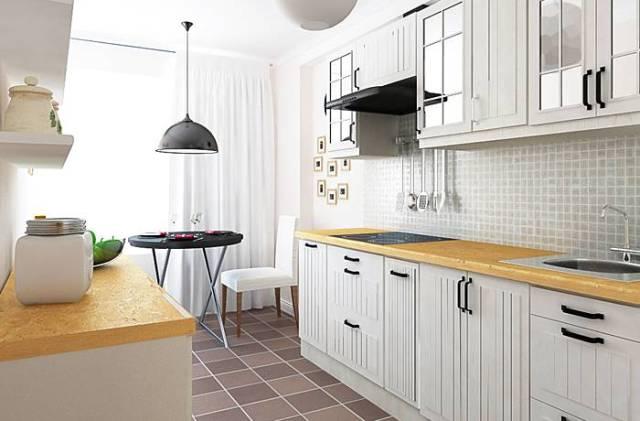 кухня в белых тонах1