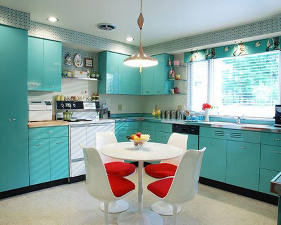 кухня в голубом цвете