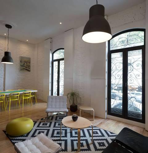 квартира в черно-белом цвете6