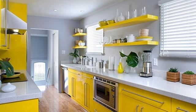 лимонные оттенки в интерьере