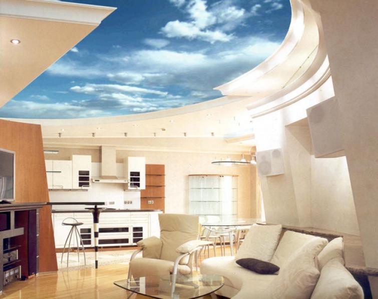 многоуровневые натяжные потолки2