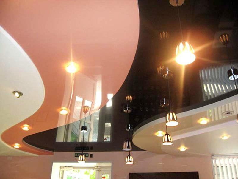 многоуровневые натяжные потолки3