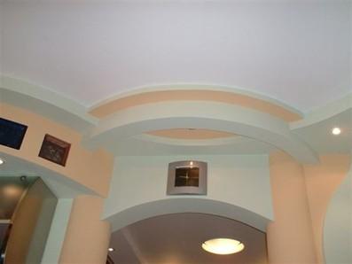 облицовка потолка гипсокартоном