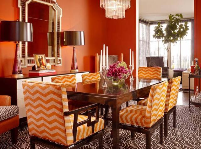 оранжевый цвет в интерьере_2