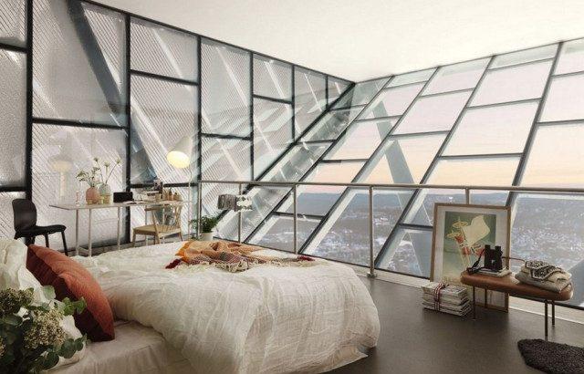пентхаус со стелкянными стенами