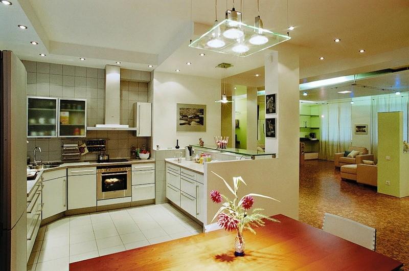 рабочее освещение кухни