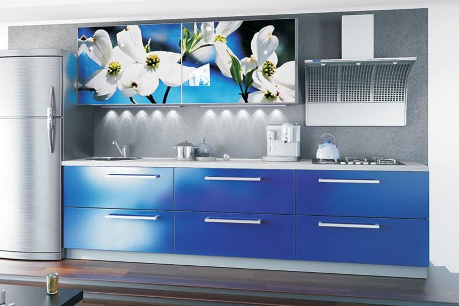 синяя мебель в интерьере 1