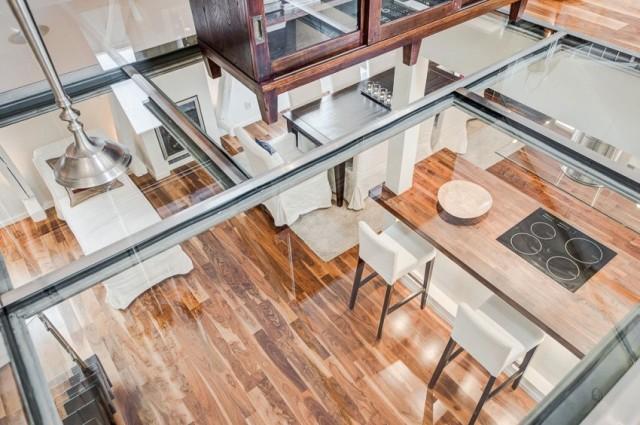 стеклянный пол в квартире9