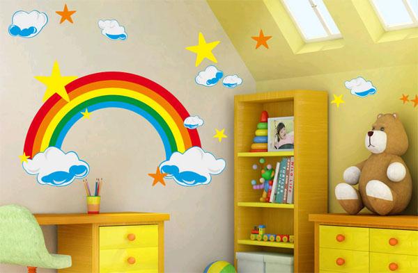 стены в детской комнате