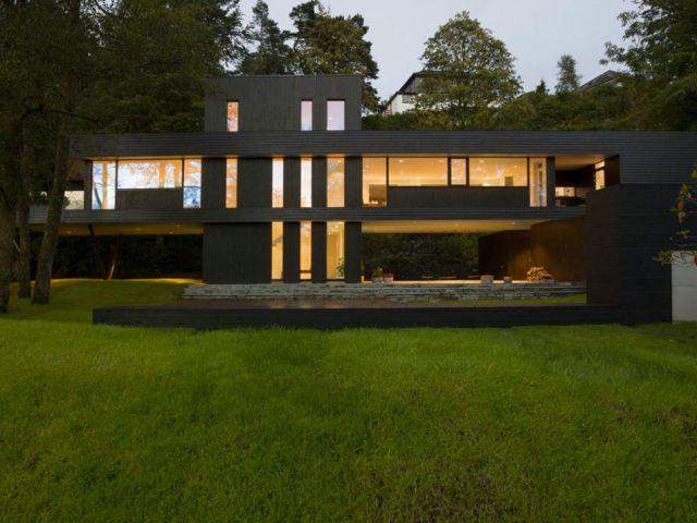 темный современный дом3