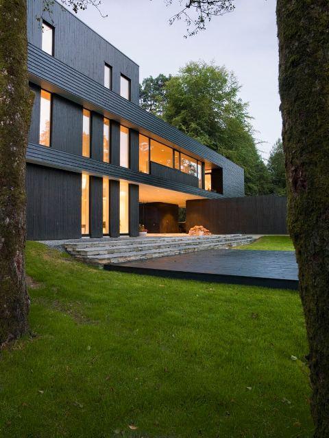 темный современный дом4