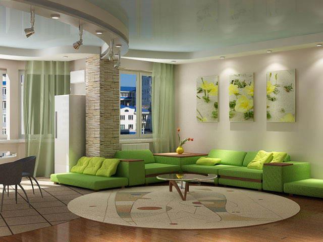 зеленая мебель в интерьере