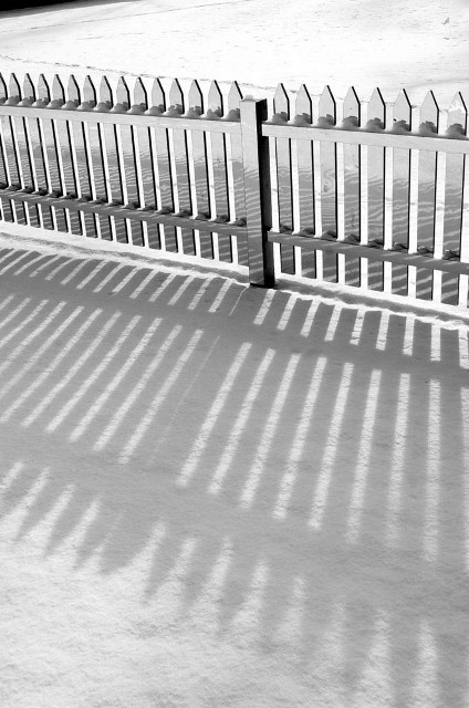 зеркальный штакетный забор_5